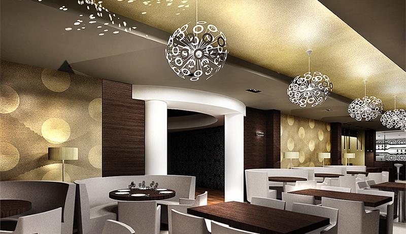 Restaurant View 06. The Golden Club Restaurant & Dance design by Somerset Harris