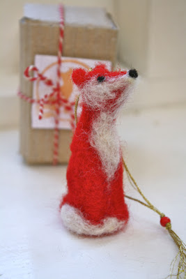 Mrs Fox's felted fox christmas tree decoration