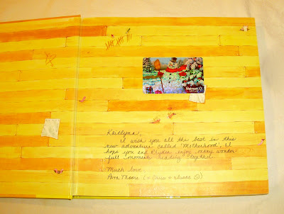Wedding Gift Card Inscriptions : For less than the price of a card I found this large storybook that ...