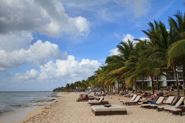 Wunderschöner Strand auf der zu Mexiko gehörenden Insel Cozumel