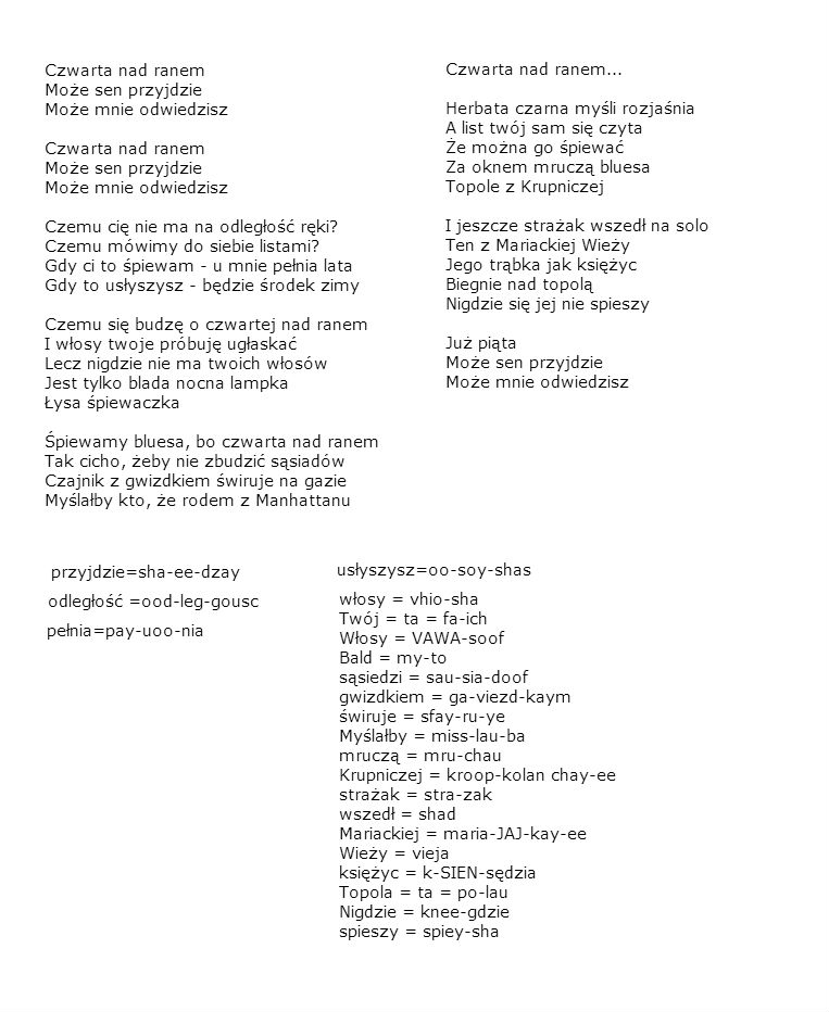 Lyric blues songs lyrics : Polish Songs With Lyrics & Chords
