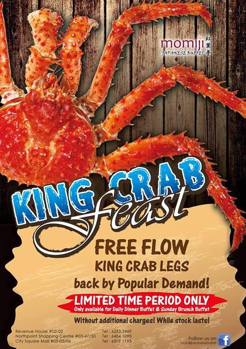 Momiji Anese Buffet Restaurant Free Flow King Crab Legs
