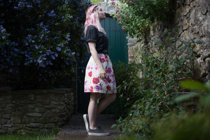 floral pufball dress