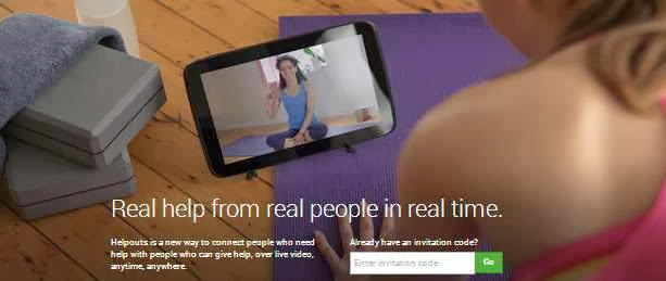 live video chats with experts through Google Helpouts service