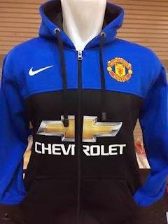 gambar jaket hoodie manchester united chevrolet musim 2015/2016 kualitas grade ori made in thailand