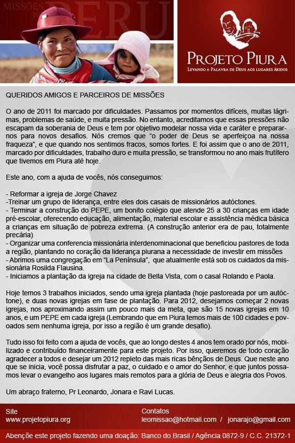 Projeto Piura 2012