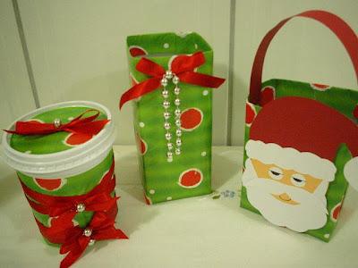 Lembrancinhas de natal com reciclagem de caixa de leite