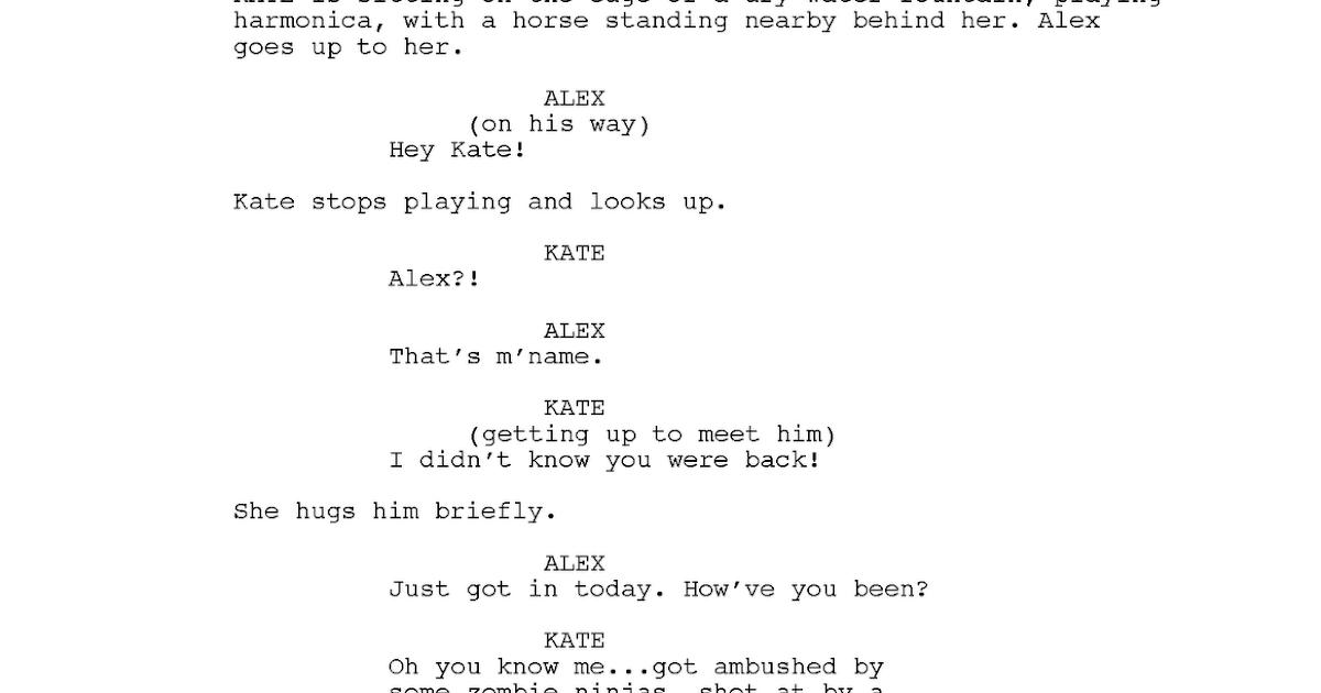 how to write a pilot script