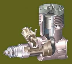 motores glow radio control