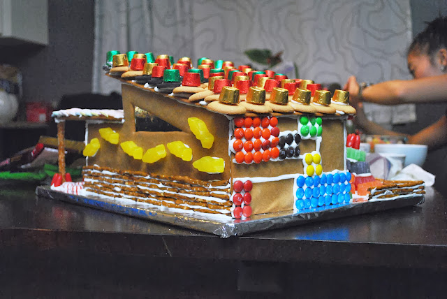 mid-century gingerbread house