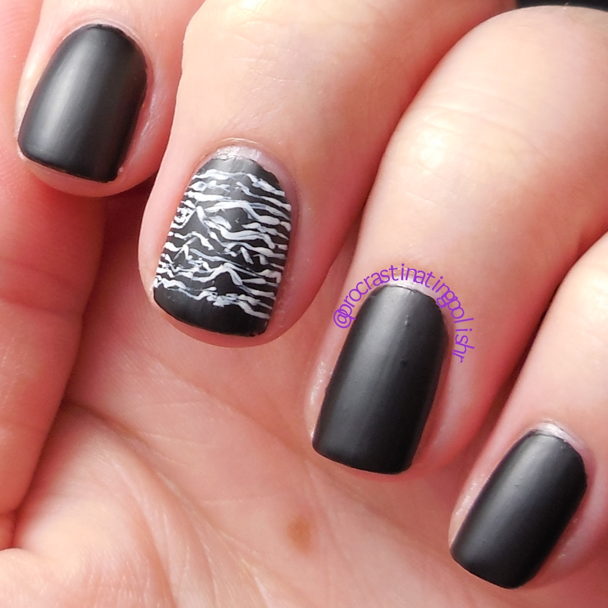 Unknown Pleasures Nail Art
