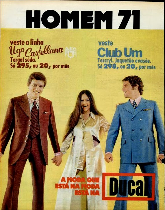 Ducal. moda anos 70; propaganda anos 70; história da década de 70; reclames anos 70; brazil in the 70s; Oswaldo Hernandez