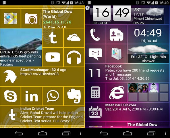 Home8+ like Windows 8 Launcher 3.5 screenshot