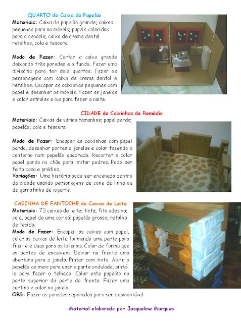 Cenário Maquete e Casa de Fantoche de Caixa de Leite,contação de história,sucata,anos iniciais,educação infantil