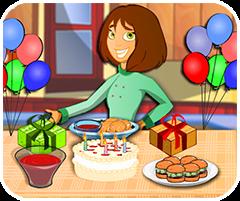 Thực đơn sinh nhật, chơi game nấu ăn online