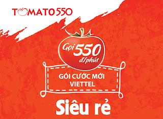 Hướng dẫn đăng ký gói Tom550 của Viettel,550đ/ phút gọi nội mạng.