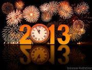 Feliz año 2013 - Naranja fondo