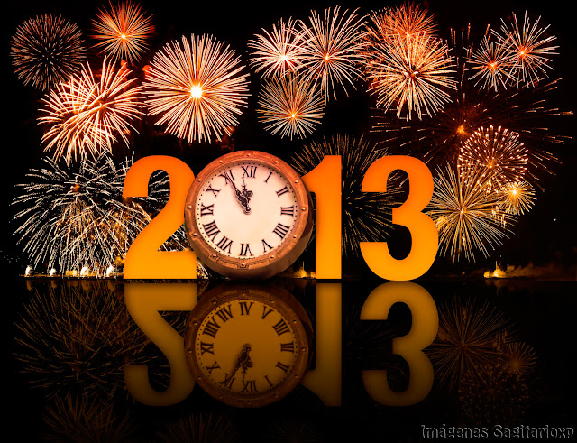 Fondo de pantalla: Feliz año 2013 - Naranja