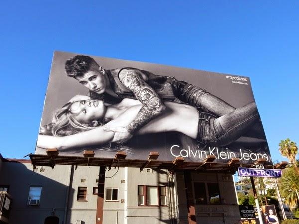 Justin Bieber Calvin Klein Jeans billboard