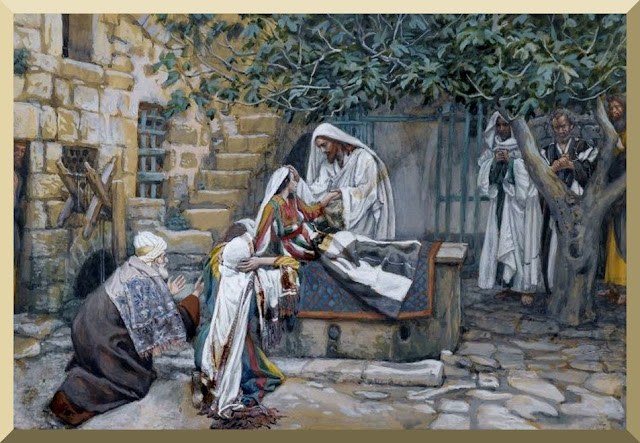 """The Daughter of Jairus"" -- by James Tissot"