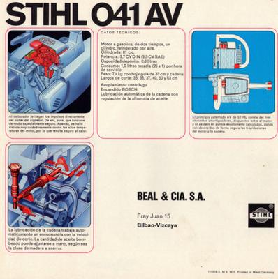 Stihl 041AV chainsaw motosierra