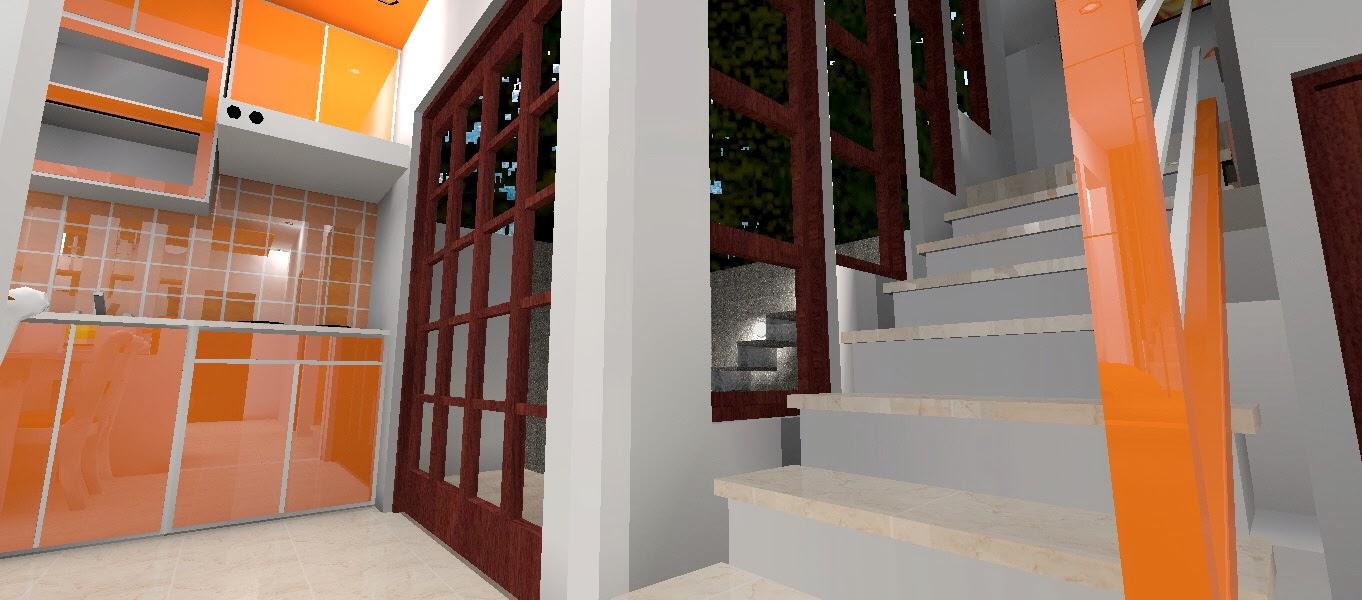 tangga dengan jendela besar