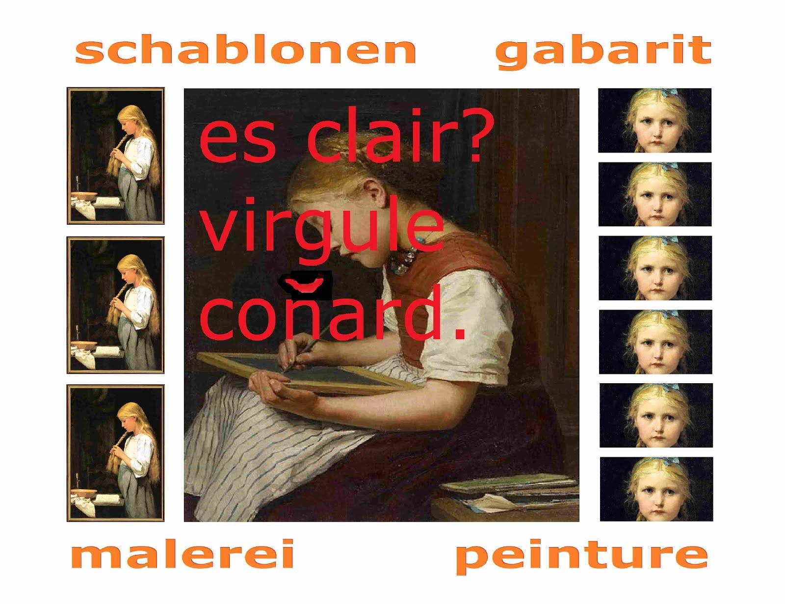 gabarit schablonen denken malerei peinture collection privée bloCHer anker mischa vetere DE retour