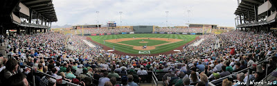Spring Training Baseball Scottsdale Arizona Stadium Panorama