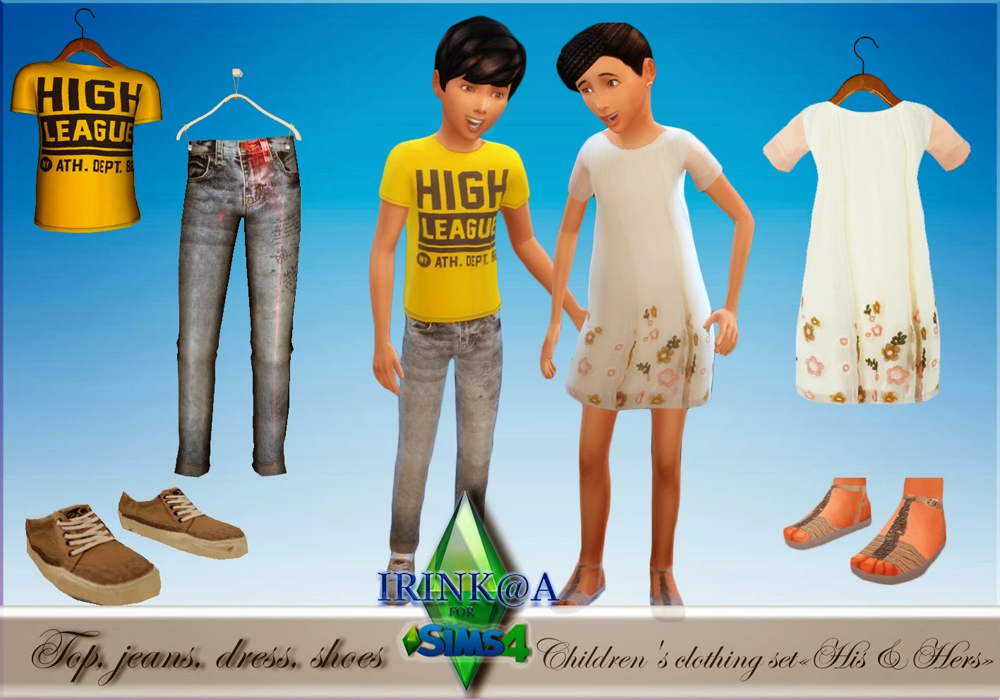 My Sims 4 Blog: Clothing and Shoes for Kids by Irink@a