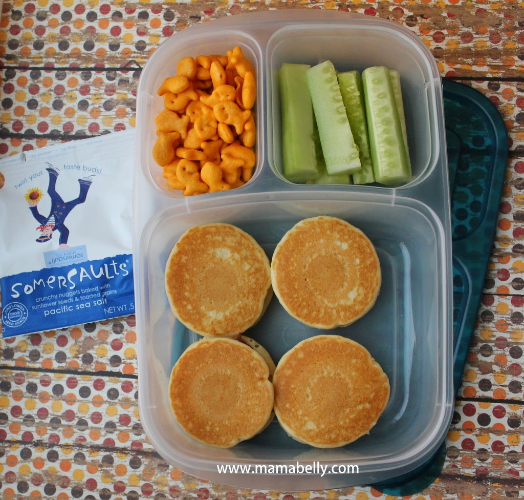 Pancake Sandwiches in Easylunchboxes for School - mamabelly.com