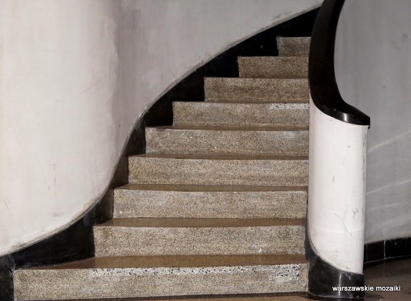 schody Warszawa Śródmieście kamienica Ptaszycki Kraskowski klatka schodowa modernizm zabytek
