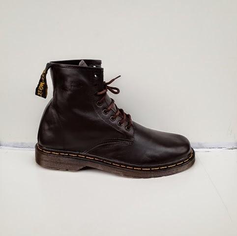 Dr.Martins coklat,sepatu boots,Sepatu fashion