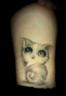 cute kitty tattoo design