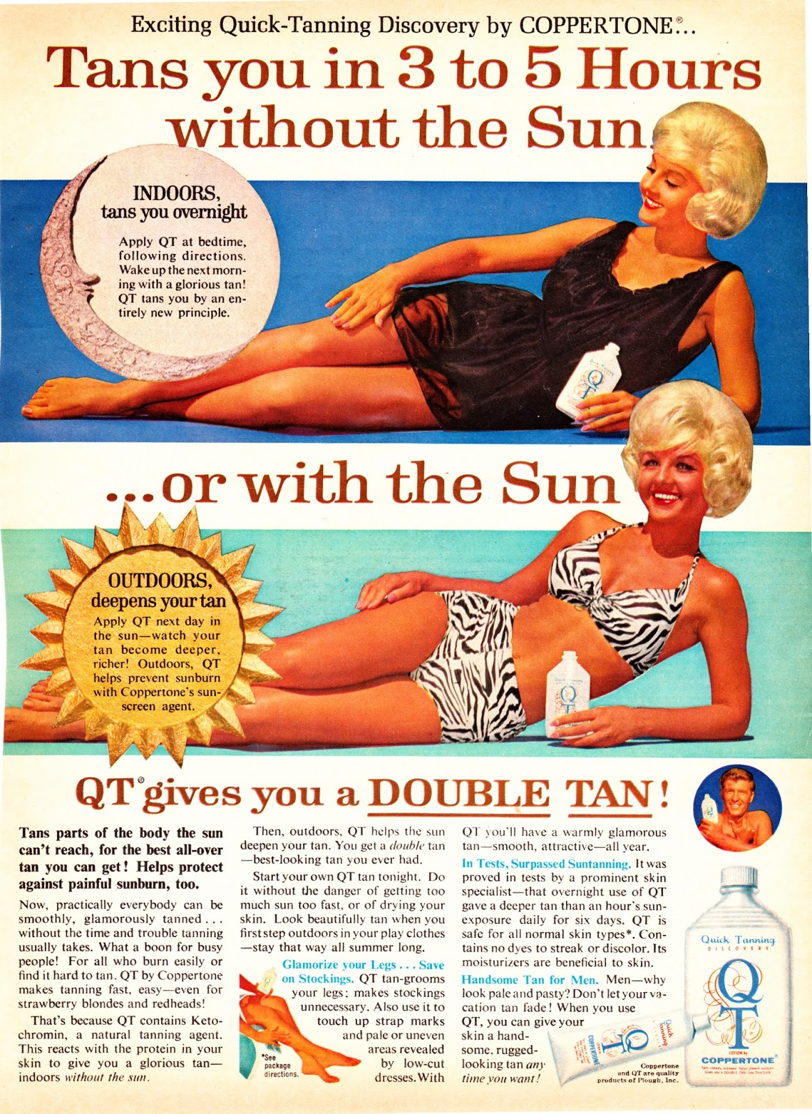 21 Cool Sun Tan Adverts from the 1960s and 1970s