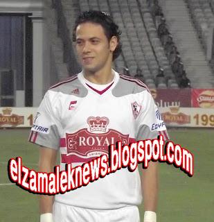 إبراهيم صلاح لاعب وسط الزمالك الدولي