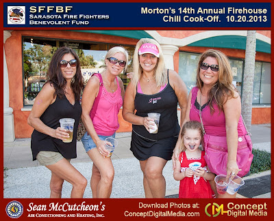 picture from the chili cook off mortons sarasota fire fighters