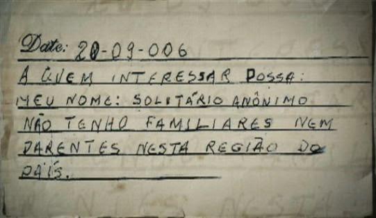 Documentário Solitário Anônimo. Curta, short, corto.