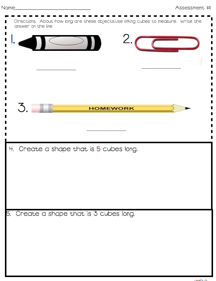 Primary Possibilities: ~First Grade Common Core Math Assessments~