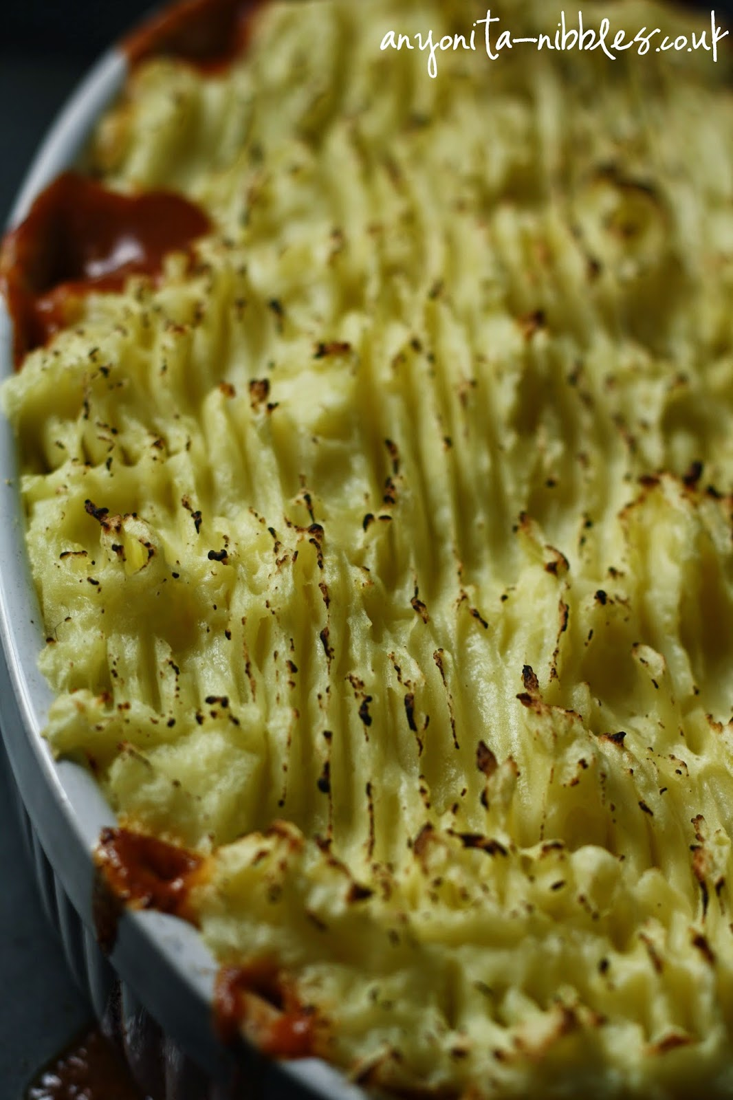 Mashed potatoes on a cottage pie from anyonita-nibbles.co.uk