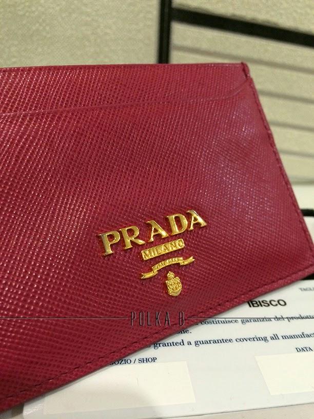 Prada Saffiano Leather Card Holder 1M0208 - Ibisco | Polka B ...