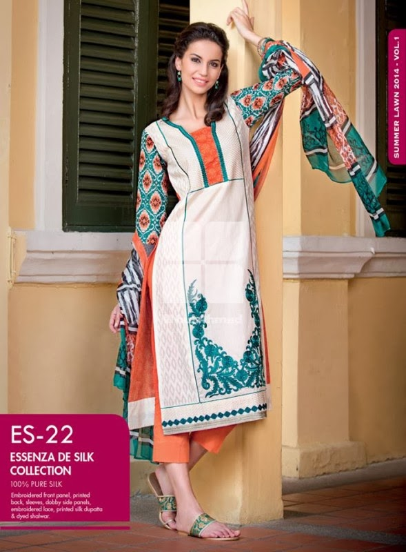 Gul Ahmed Essenza DE Silk Collection 2014