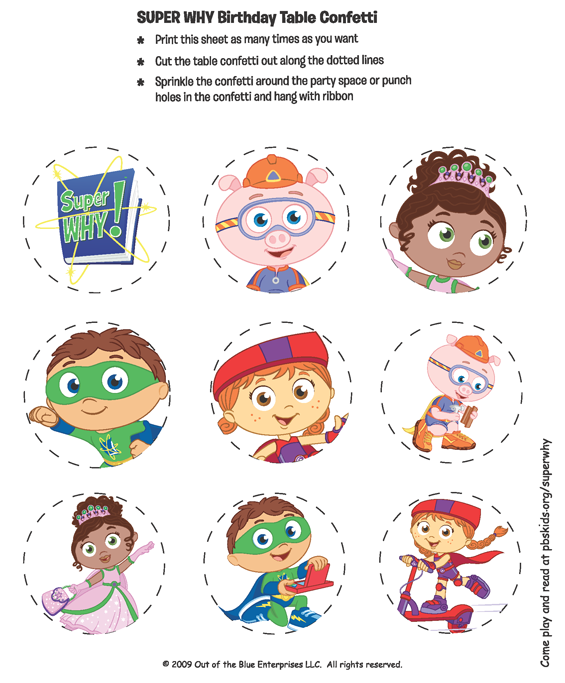 It is an image of Rare Super Why Printables