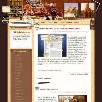 Know Cambodia Blogger Template. free download template blogspot
