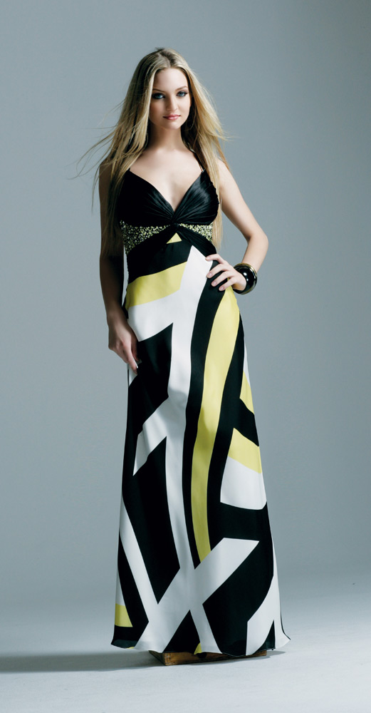 Elegant Print Evening Dresses