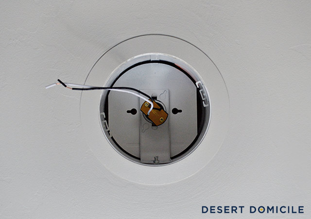 How to turn a recessed light into a hardwired light desert domicile take apart the mounting bracket aloadofball Image collections