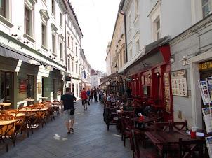 Street side cafe's in Old Town Bratislava.