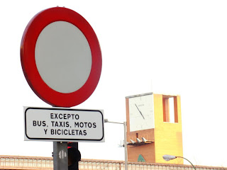 Excepto buses, taxis y bicis
