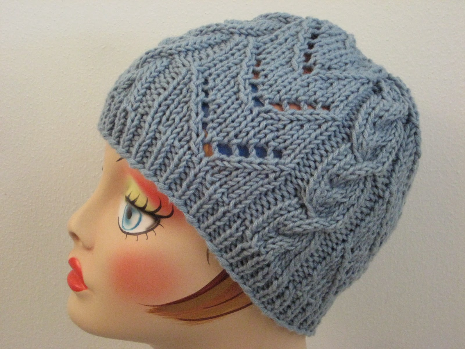 Balls to the Walls Knits: Chevrons & Cables Hat
