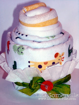 DIY - Baby Shower Cupcakes (Receiving Blanket, Onesie, Washcloth)