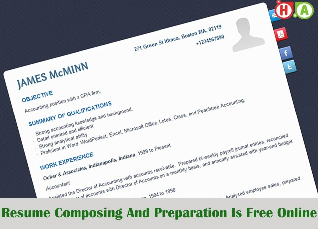 Resume Composing And Preparation Is Free Online